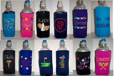 Design your own Personalized Water Bottle Embroidered Koozie Cover many choices!