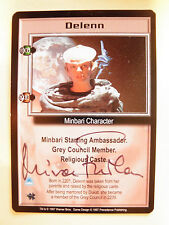 Autographed  Babylon 5 ccg - Delenn  (Mira Furlan)  thin black ink