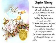Baptism Blessing Prayer Card and Devotional Prayer