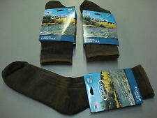 NWT Men's Cabela's 50% Wool Blend Crew Socks 3 Pair Size Large Brown #631A