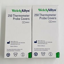 Brand New Sealed - 2 Pack of 250 Welch Allyn Thermometer Probe Covers 500 Total