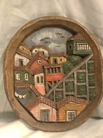 Hand Carved & Painted Wooden Wall Hanging, Made in Chile