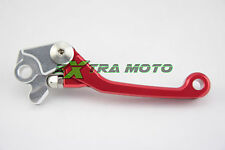Leva freno snodata antirottura ergal CNC per HONDA CRF R X 150 250 450 ROSSO