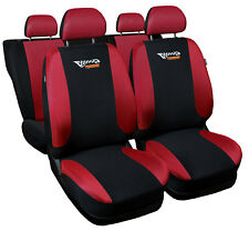 CAR SEAT COVERS fit Volkswagen Lupo red/black sport style full set