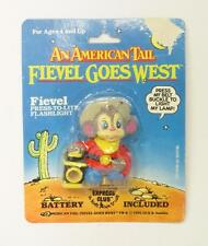 An American Tail Fievel Goes West Flashlight Sealed on Card - Rare