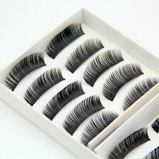 10 Pairs Brand New Natural False Eyelashes Fake Makeup Eye Lashes Lash with Glue