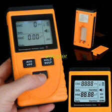 digital lcd electromagnetic radiation detector dosimeter tester emf meter