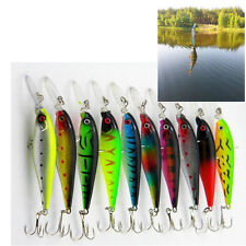 Fishing Lures Minnow Artificial Hard Bait Floating Wobblers With 3D Ey