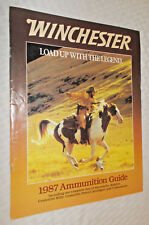 1987 WINCHESTER Ammunition Guide - shotshells, rimfire, centerfire rifle pistol