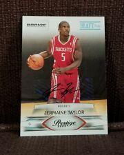 Autographed Jermaine Taylor 2009-10 Prestige Draft Picks Rookie Card #232 #d