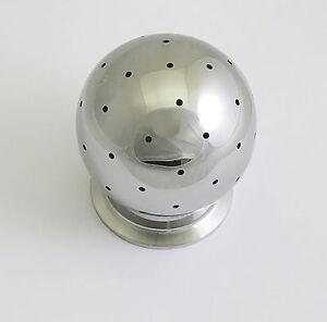 "FIXED CIP SPRAY BALL TRI CLAMP 2"" 304 STAINLESS TRI CLOVER TC 3"" BALL"