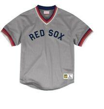 Mitchell & Ness Boston Red Sox Baseball Jersey New Mens Sizes MSRP $90