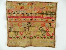 More details for rare antique victorian sampler needlework george iv 1825 mary meredith