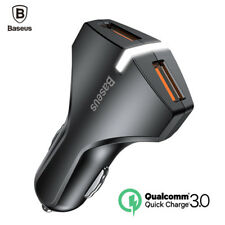 Baseus Quick Charge 3.0 Car Charger 5V3A Dual USB Port QC3.0 Quick Charger Mobil