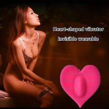 3 Color Female Heart-shaped Waterproof Silicone Vibrator In Panty