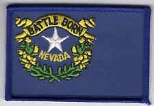 Nevada State Flag Patch Embroidered Iron On Applique