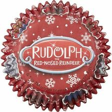 Rudolph Reindeer Christmas Baking Cups 50 ct from Wilton #7012- NEW