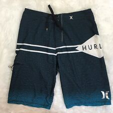 Hurley Men's Black & Gray Board Swimming Shorts Trunks Size 29