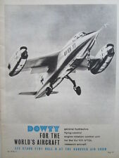 6/1964 PUB DOWTY VJ 101 VTOL FLYING CONTROL ENGINE ROTATION CONTROL ORIGINAL AD