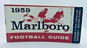 1959 Marlboro Football Guide & Schedule