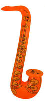 Mini Orange Inflatable Saxophone - 55cm - Pinata Toy Loot/Party Bag Fillers