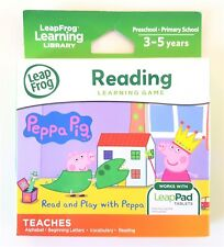 New Genuine LeapFrog READ & PLAY WITH PEPPA Learning Game for LeapPad Tablets