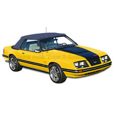 Mustang Convertible Top (83-90 All Models) Blue Vinyl with Tinted Glass Window