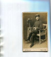 Militaire PHoto soldat assis collée cartonnage studio Bockmann à ZABERN SAVERNE