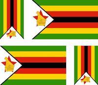 4x Adhesivo adesivi pegatina sticker vinilo bandera vinyl moto coche zimbabue