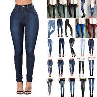 Womens Tight Skinny Denim Jeans Slim Jeggings High Waist Pencil Pants Trousers
