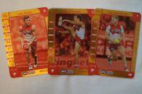 Sydney Swans AFL Football Gold Cards x 3 Football Cards Parker, Hannebery etc
