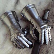 20g Steel Medieval 'Segmented' Gauntlet Gloves, Ideal for Re-enactment & LARP