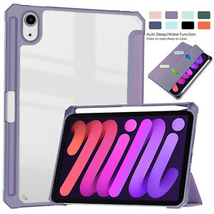 For iPad 10.2'' 9th Gen 8th 7th Air 4 Mini 6 Pro 11 2021 Smart Stand Clear Case
