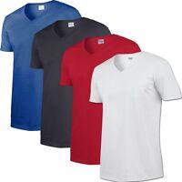 4 Pack V Neck Cotton T shirt  Brand New Mens TShirt Plain All Colours + Sizes
