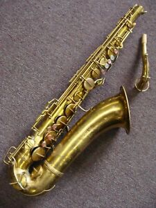 Conn 10 m Naked Lady Tenor Saxophone 1935 with Rolled Tone Holes