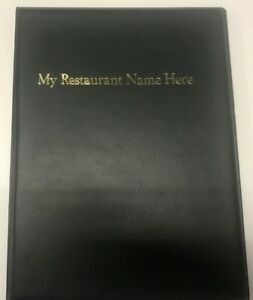 QTY 20 A4 MENU FOLDERS IN PVC WELDED GREEN WITH YOUR RESTAURANT NAME PRINTED