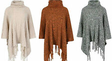Ponchos Acrylic Polo Neck None Jumpers & Cardigans for Women
