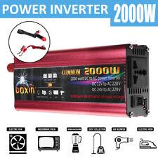 2000W/4000W Power Inverter DC 12v to AC 220V-240V Car Converter USB Plug Port