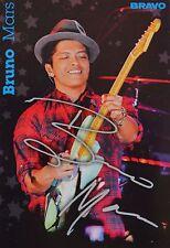 BRUNO MARS - Autogrammkarte - Signed Autograph Autogramm Fan Sammlung Clippings