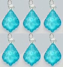 Lampadario taglio vetro cristalli foglia Aqua Turchese ALBERO DI NATALE DECORAZIONI miliardi