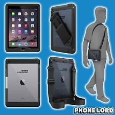 "Genuine Lifeproof Nüüd Nuud case cover iPad Pro 9.7"" + hand shoulder strap Black"