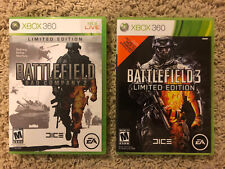 Battlefield 2 Bad Company & Battlefield 3 (Limited Editions!) Tested! Lot Of 2!