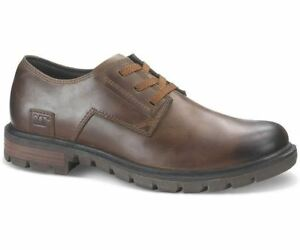 CAT Mens Data BROWN Leather Lace shoe