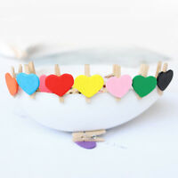 20Pcs Wooden Pegs Photo Clips Note Memo Holder Card Craft Party Favor room decor