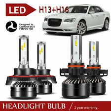 4x Combo H13 9008 LED Headlight HID+5202 Fog Light Bulbs For 2008-12 Ford Escape