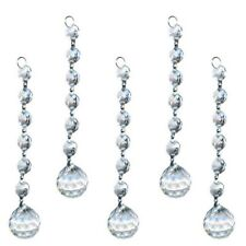 6.4*1 inch Clear Crystal Glass Chandelier Light Ball Prism Suncatcher Drop US