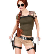 Lara Croft Style Tomb Raider Twin Guns & Holster Fancy Dress Thigh Pistols Gun