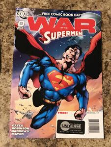 SUPERMAN: WAR OF THE SUPERMEN #0 (2010) DC FCBD FREE COMIC BOOK DAY SPECIAL!