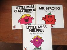 Mr Men X 3, Little Miss Helpful, Miss Chatterbox, Mr Strong Roger Hargreaves