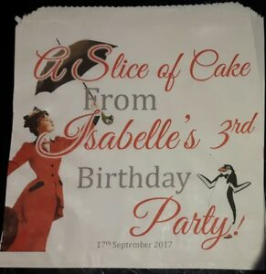 Personalised Disney Mary Poppins White Cake / Party Bags